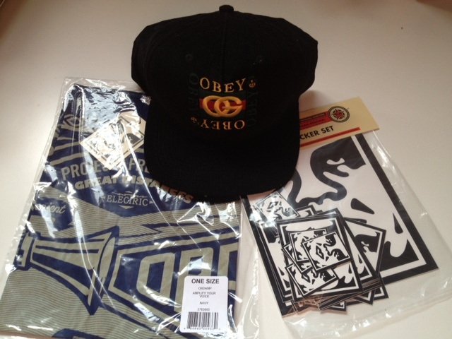 Day 10 of our 12 Days of Gifting…a package with some fun OBEy items  the  Knockoff Snapback cap 9f2ee55459ad